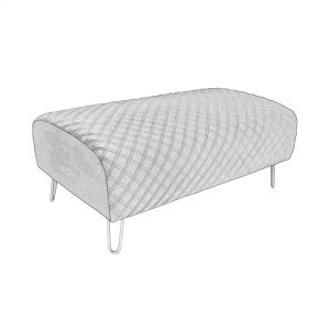 1240 Footstool Diamond in Opulence Charcoal outline