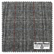 HARRIS TWEED HIGHLANDER SMOKE SWATCHblock