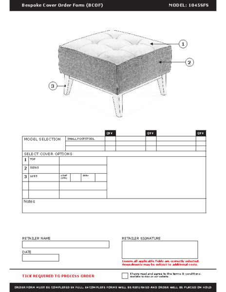 WF-BCOF-1045 Small Footstool