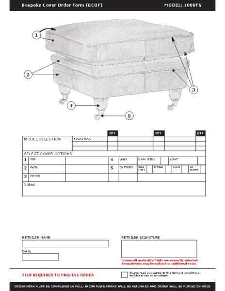 WF-BCOF-1080 Footstool