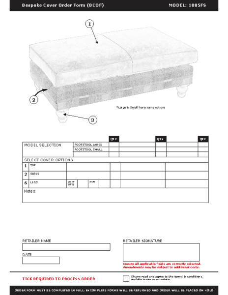 WF-BCOF-1085 Footstool
