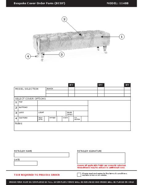 WF-BCOF-1140B Bench
